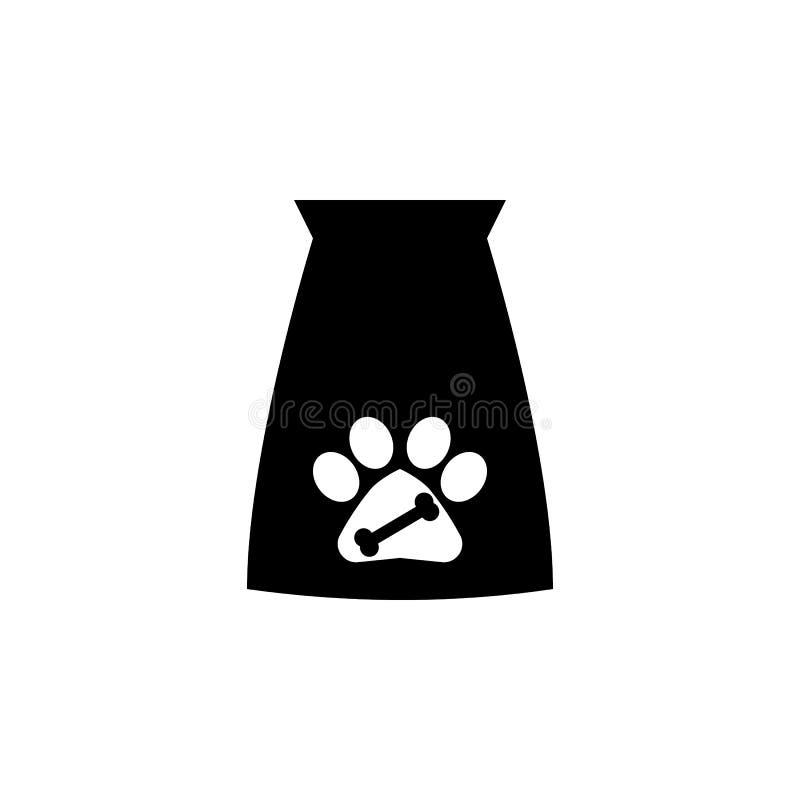 Påsesymbol för älsklings- mat Populär avel av hundkapplöpningbeståndsdelsymbolen Högvärdig kvalitets- symbol för grafisk design S royaltyfri illustrationer