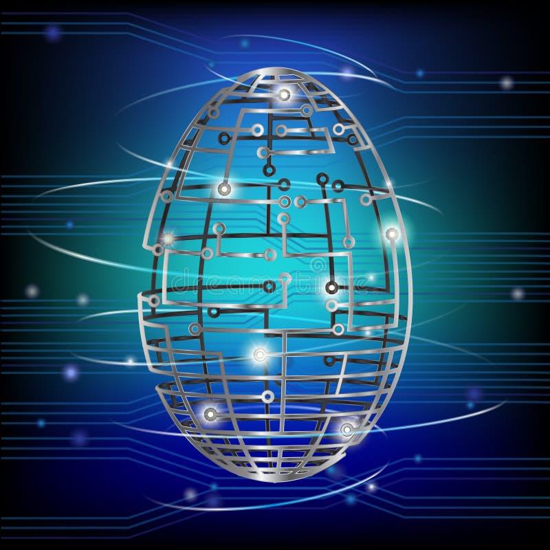 Circuit stiger ombord ägget vektor illustrationer