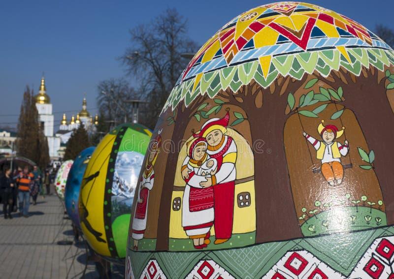 Påskägg målade vid handförlage-målarna från alla ukrainska regioner arkivfoto
