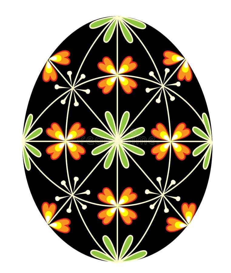 Påskägg med en målad modell, 48 kilar Symbolet av p?sken En forntida tradition av folk ocks? vektor f?r coreldrawillustration vektor illustrationer