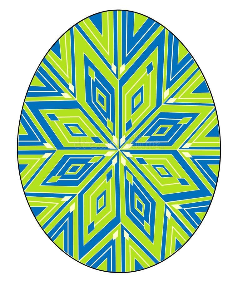 Påskägg med en målad modell, stjärna Symbolet av p?sken En forntida tradition av folk ocks? vektor f?r coreldrawillustration royaltyfri illustrationer