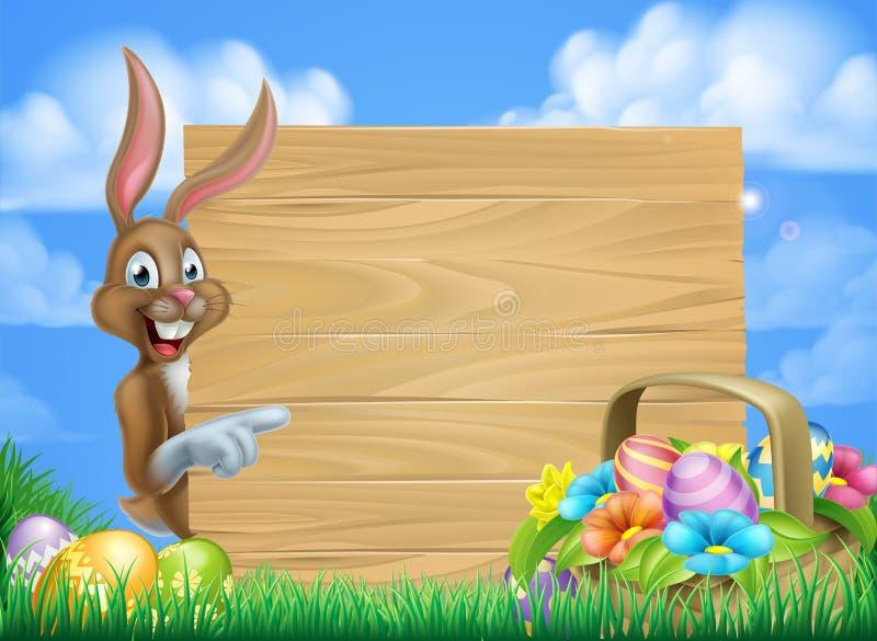 Påsk Bunny Sign vektor illustrationer