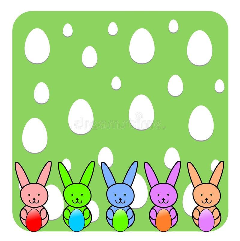 Påsk Bunny Wallpaper - illustration royaltyfri illustrationer