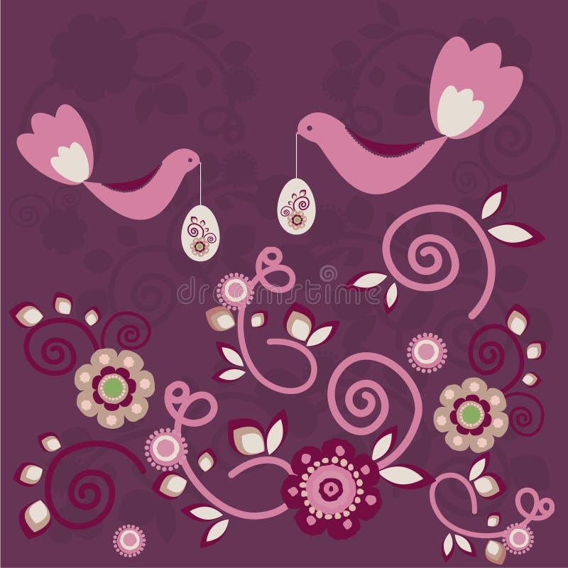 Påskbakgrund stock illustrationer