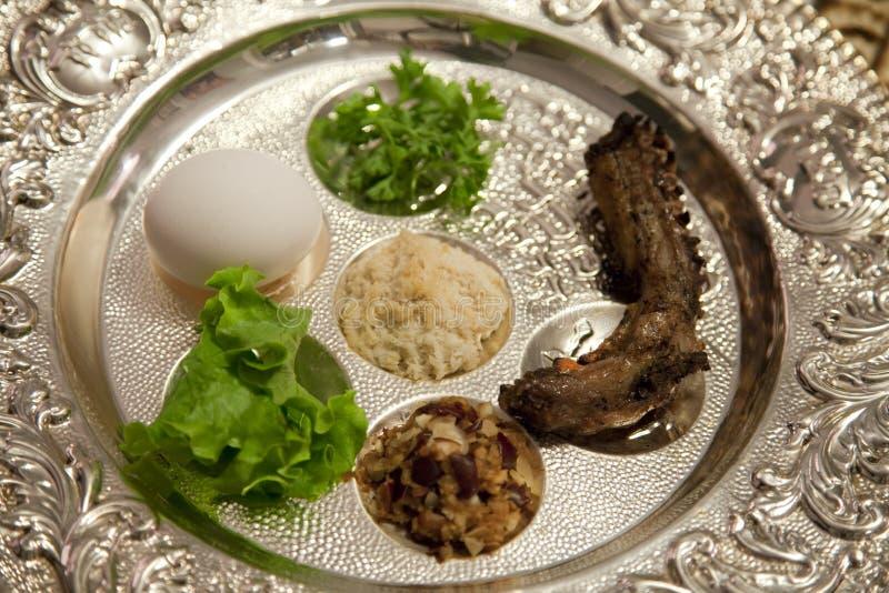 Påskhögtiden Seder pläterar royaltyfri bild