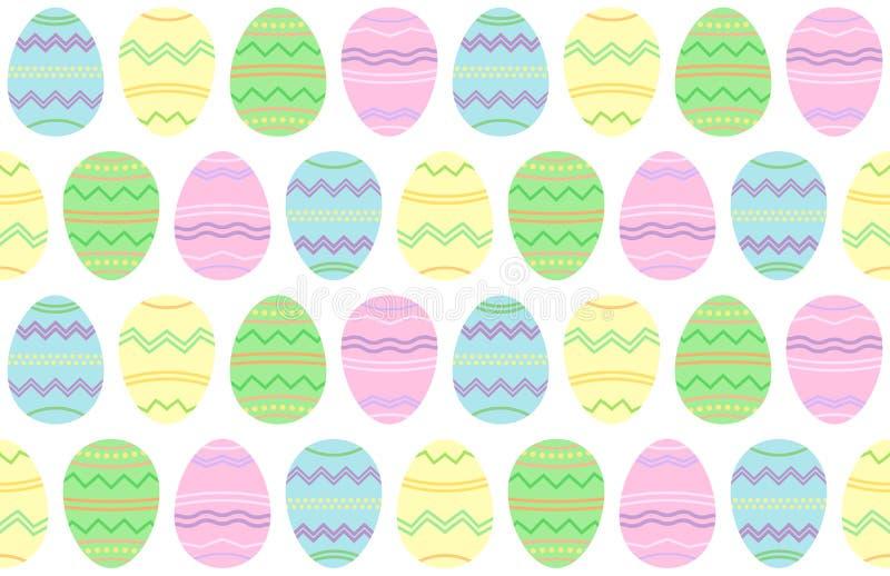 Påskillustration, sömlösa ägg bakgrund, vektortapet royaltyfri illustrationer
