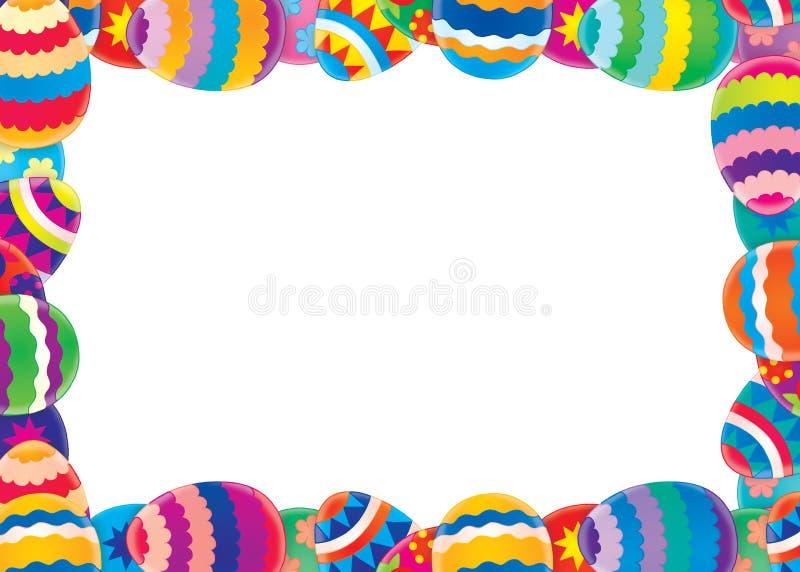 Påskkant/bakgrund stock illustrationer