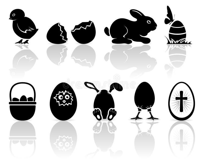Påsksymboler vektor illustrationer