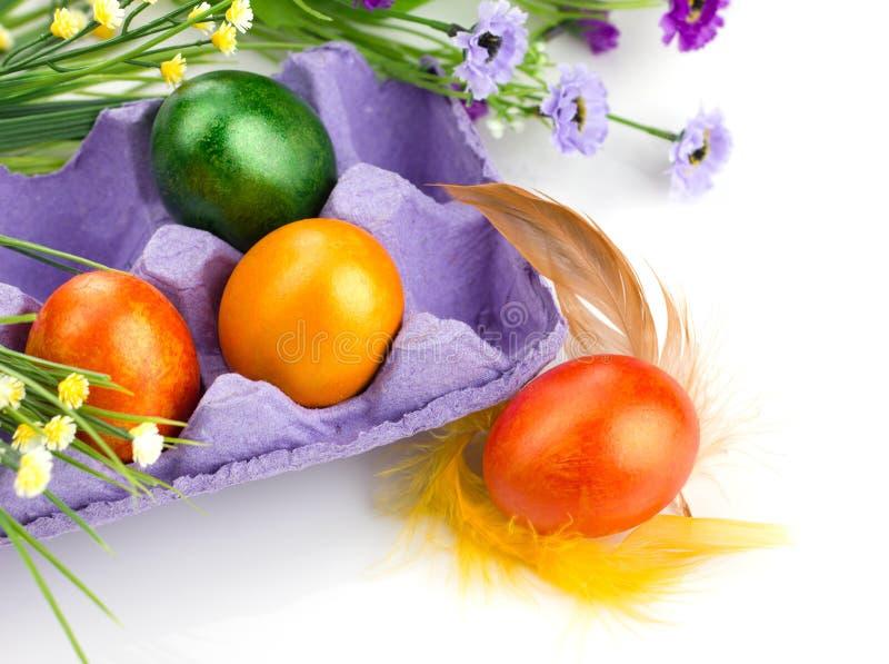 Påskvykort med ägg fotografering för bildbyråer