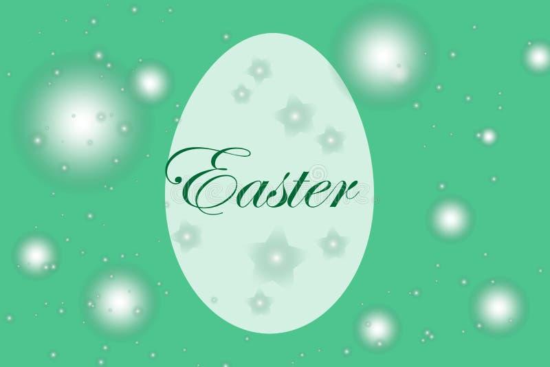 Påskvykort med ägg och önska vektor vektor illustrationer