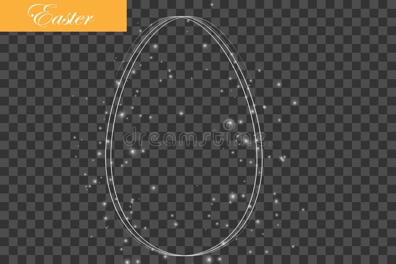Påskvykort med ägg och önska vektor stock illustrationer