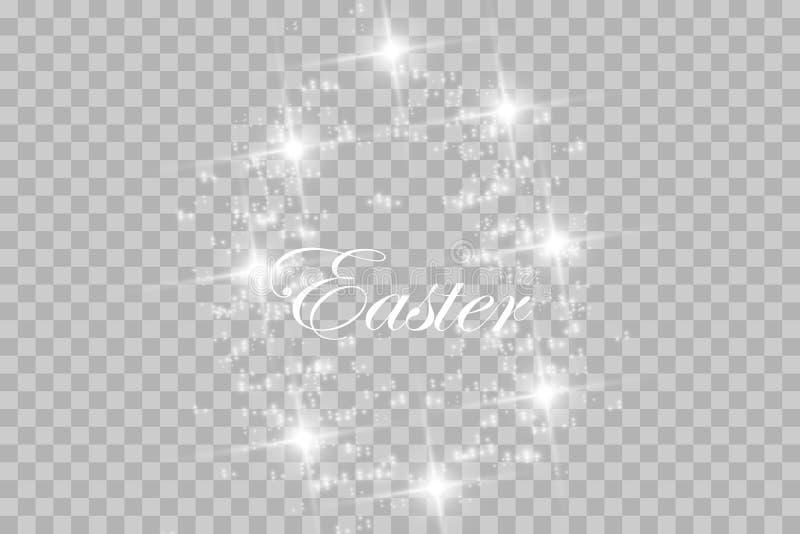 Påskvykort med ägg och önska vektor royaltyfri illustrationer