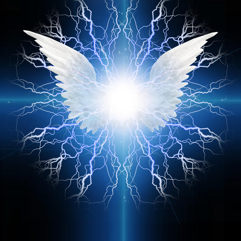 Påskyndad ängel stock illustrationer