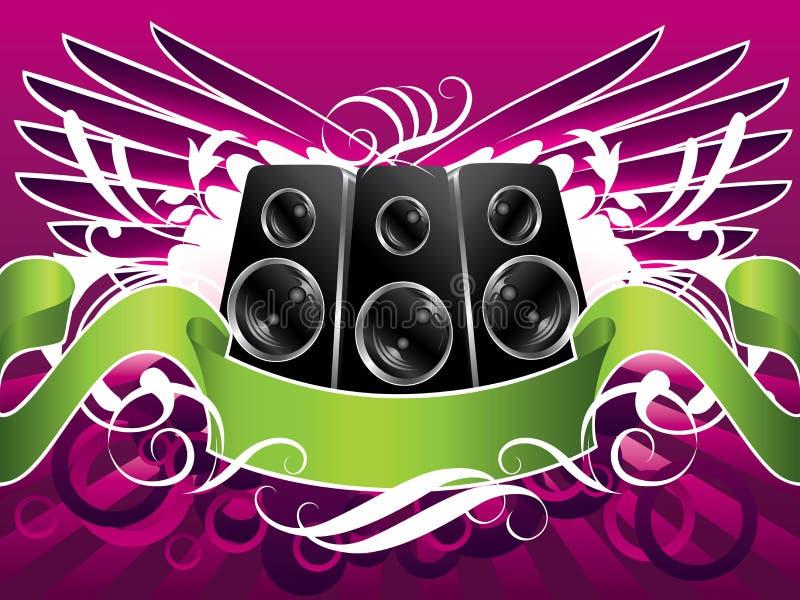 påskyndade musikhögtalare royaltyfri illustrationer