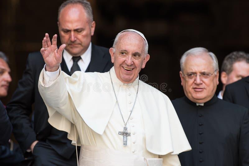 Påve Francis fotografering för bildbyråer