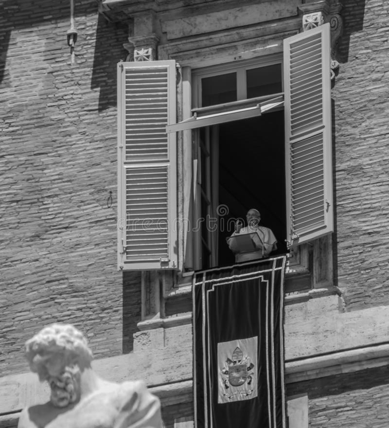 Påve Francis i Vaticanen royaltyfria bilder