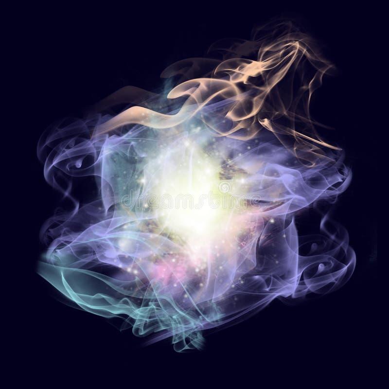 Påverkande varandra galaxer arkivfoto