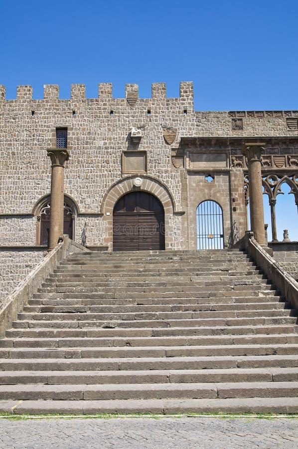 Påvlig slott. Viterbo. Lazio. Italien. royaltyfri foto