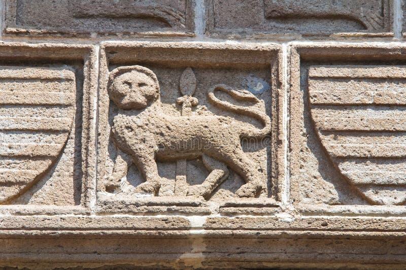 Påvlig slott. Viterbo. Lazio. Italien. royaltyfri bild