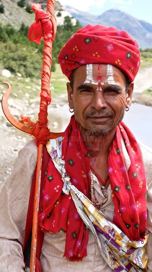 Pèlerin de Shiva à Muktinath, Népal photos stock