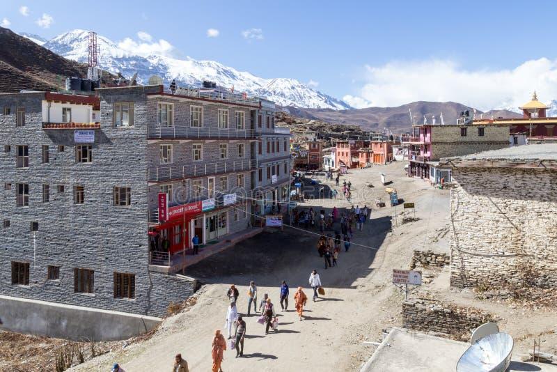 Pèlerins dans Muktinath, Népal photos stock