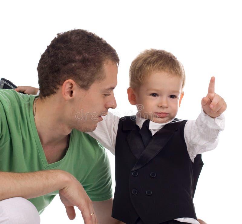 Père avec l'enfant photo stock