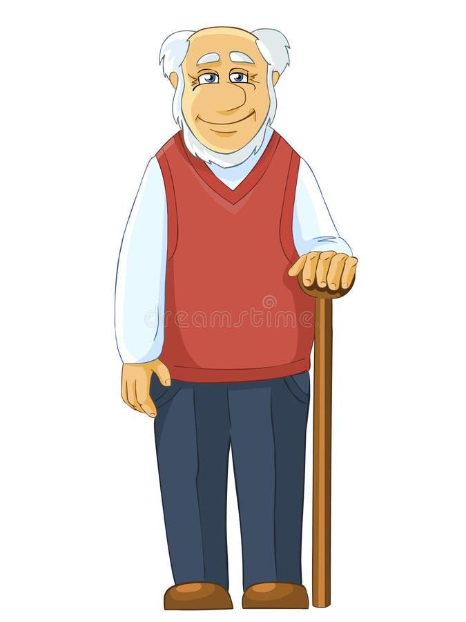 Père avec le bâton illustration stock