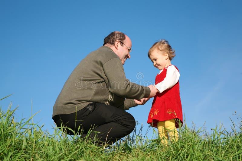 Père avec le descendant images libres de droits