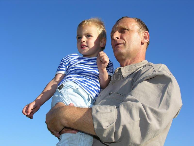 Père avec le fils 2 photos stock