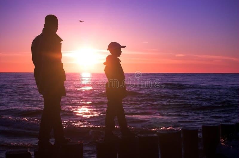 Père avec le fils photos libres de droits