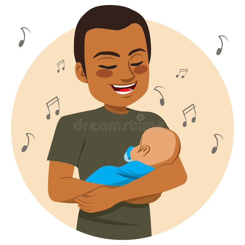 Père chanteur illustration libre de droits