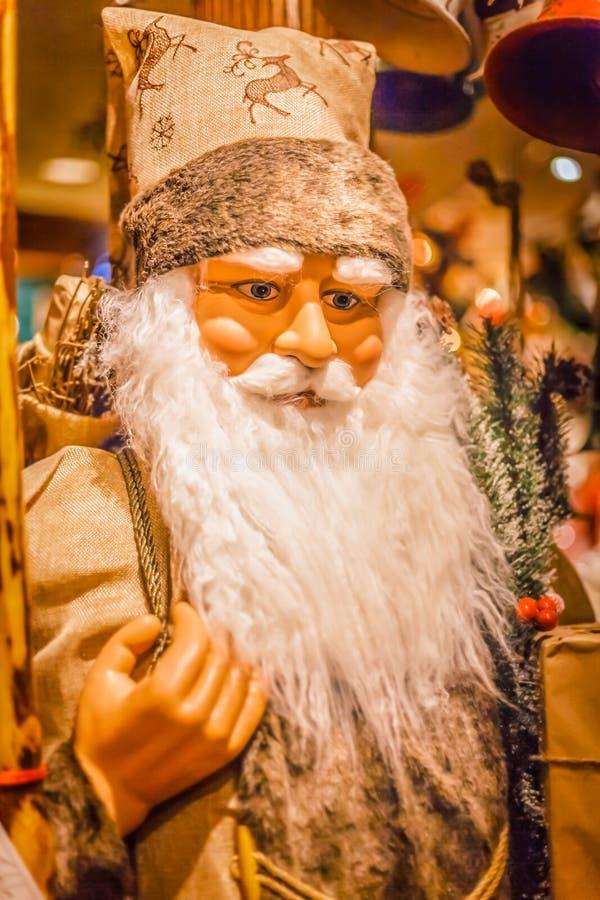 Père Christmas sur l'ennemi d'affichage les vacances photographie stock