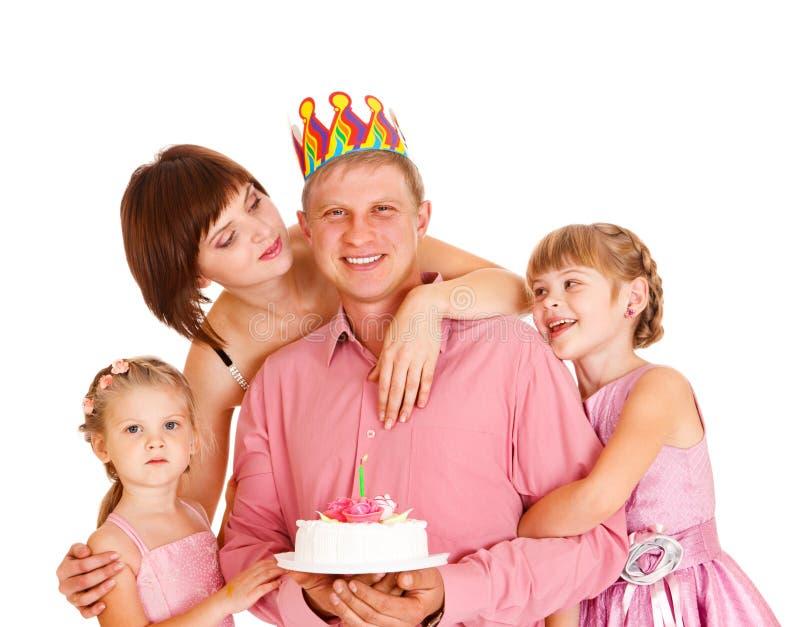 Père de embrassement de famille image libre de droits