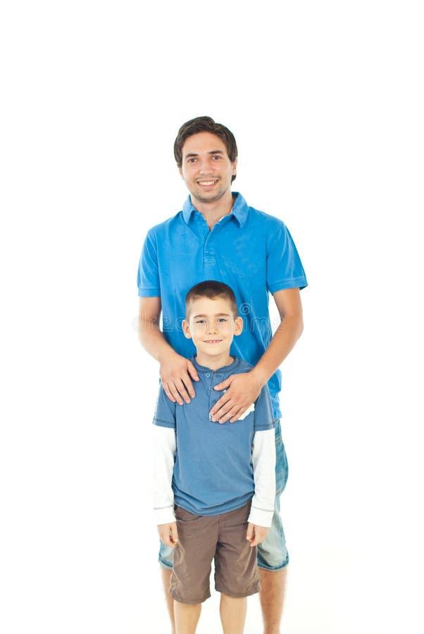 Père de sourire et son fils photos libres de droits