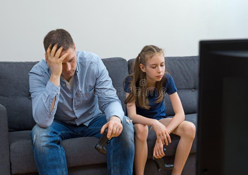 Père et fille de renversement photo libre de droits