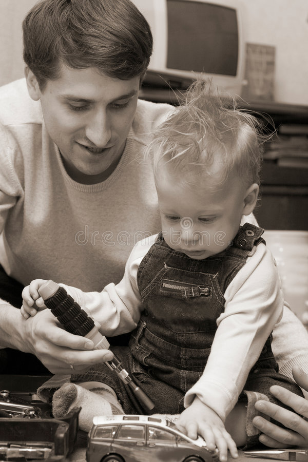 Père et fils photo libre de droits