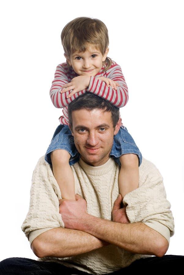 Père et fils photo stock