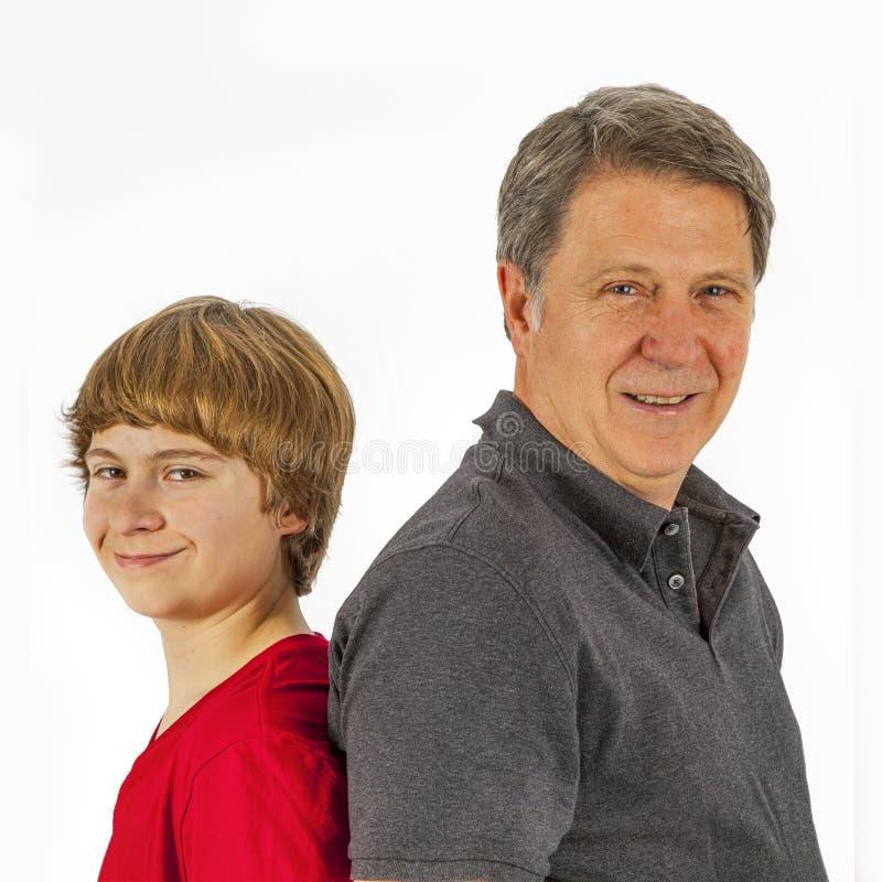 Père et fils heureux images libres de droits