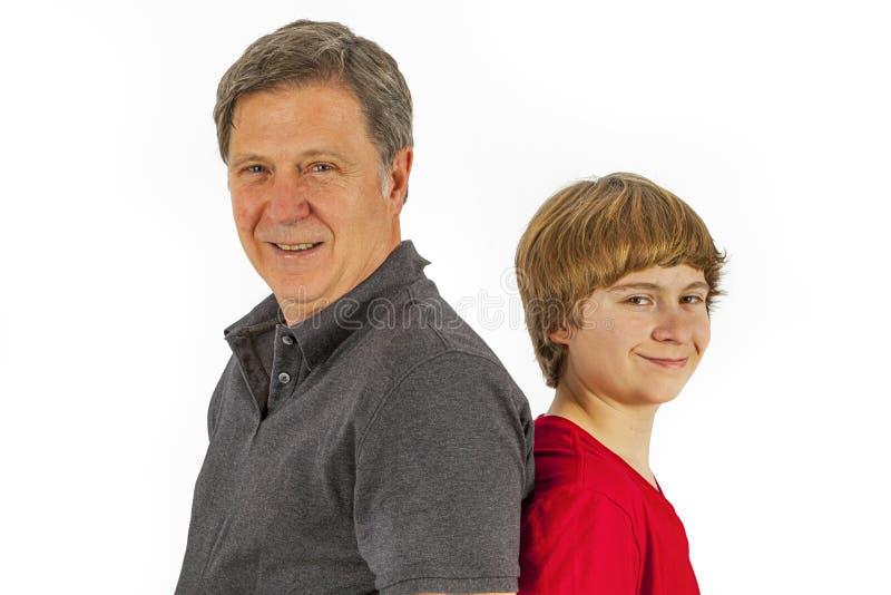 Père et fils heureux photo libre de droits