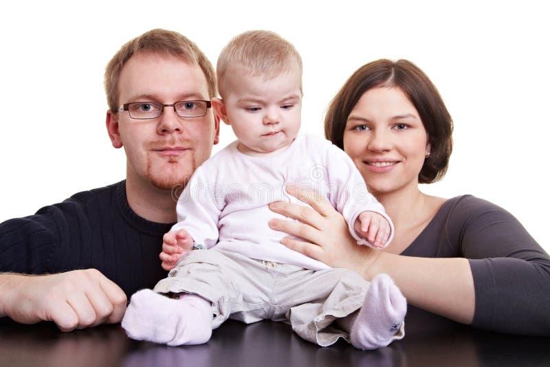 Père et mère et bébé images stock