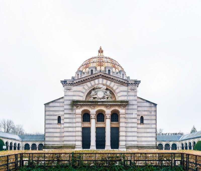 Père Lachaise crematorium and columbarium. A beautiful building of the Père Lachaise crematorium and columbarium in downtown Paris, France stock photos