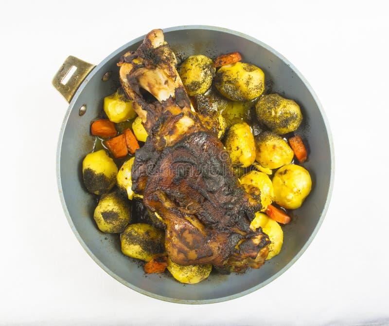 Pé cozido forno da carne de porco fotografia de stock royalty free