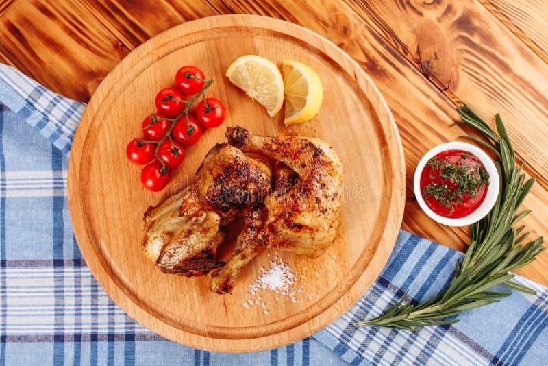 Pé Roasted galinha Wing Top Down Flat Lay do BBQ foto de stock royalty free