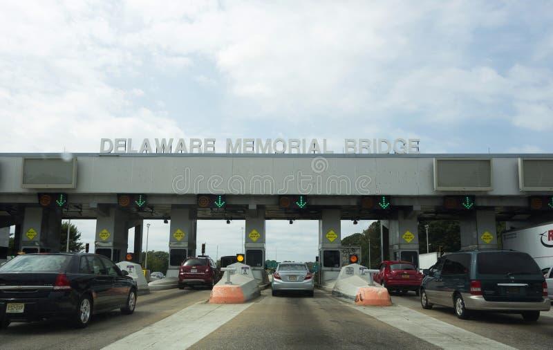 Péage de pont en mémorial de Delaware photographie stock libre de droits