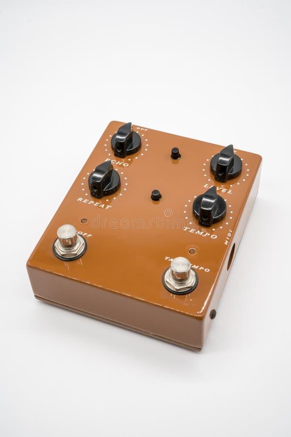 Pédale de guitare de Brown photographie stock