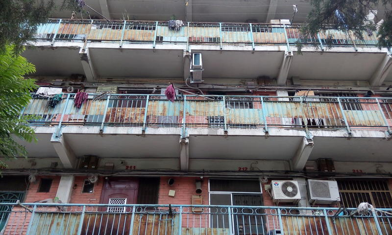 Pékin, Chine, brume, en été, les rues image libre de droits