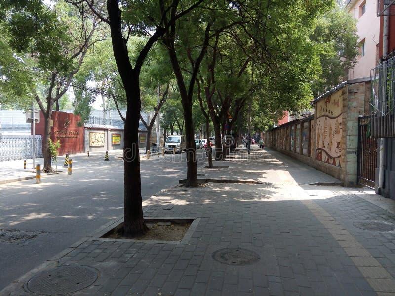 Pékin, Chine, brume, en été, les rues images stock