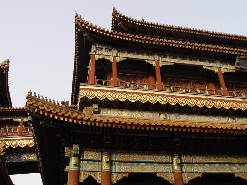 Pékin Chine - construction fleurie photos libres de droits