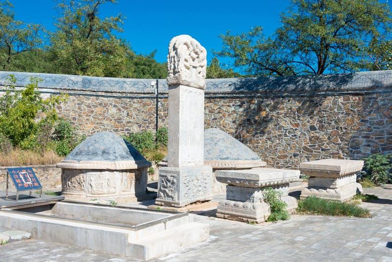 PÉKIN, CHINE - 12 octobre 2015 : Tombe d'eunuque de tombe de Tianyi un famo photos stock