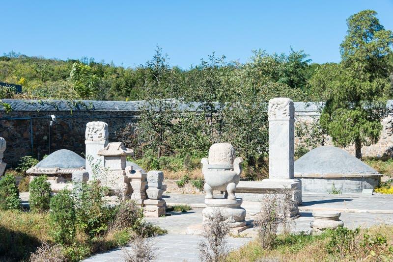 PÉKIN, CHINE - 12 octobre 2015 : Tombe de Tianyi (tombe d'eunuque) un célèbre photos stock